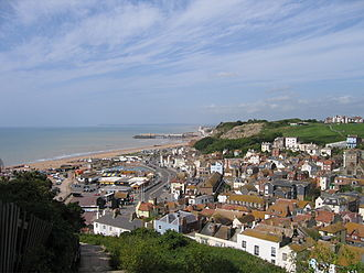 Hastings Old Town - View of Hastings Old Town from the East Hill