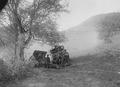 Haubitze mit Munitionswagen in Stellung - CH-BAR - 3239099.tif