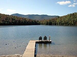 Adirondack Mountain Club - Image: Heart Lake from the ADK Loj, North Elba, NY