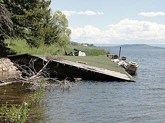 1959 Hebgen Lake earthquake - House destruction from the earthquake