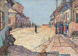 Kalush, Ukraine - Street scene in Kalusz by Heinrich Vogeler, 1915