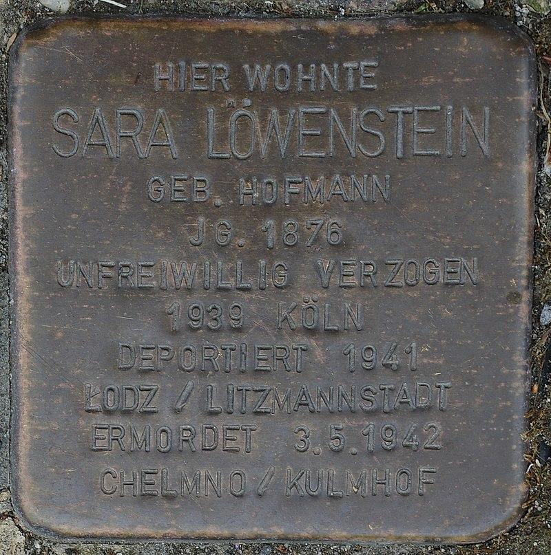 Hellenthal, Kölner Str. 66, Stolperstein für Sara Löwenstein.jpg