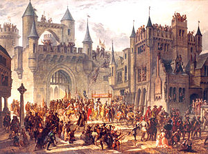 Treaty of Chambord - Entrance of King Henri II in Metz on 18 April 1552.