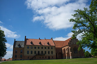 Herlufsholm School - The main building (Klosterbygningen) of Herlufsholm