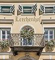 Hermagor Untermoeschach 8 Biedermeierschloessl Lerchenhof Konsolenbalkon 01092016 4017.jpg