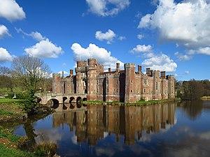 Herstmonceux Castle - Image: Herstmonceux Castle with moat