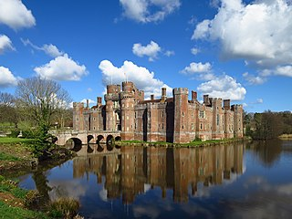 castle near Herstmonceux, East Sussex, England; formerly a manor