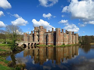 Herstmonceux Castle - Herstmonceux Castle, seen from the south-east