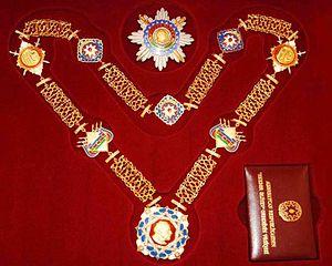 Heydar Aliyev Order - Star,medal and certificate of Heydar Aliyev Order
