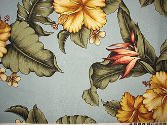Barkcloth - Image: Hibiscus barkcloth Honolulu