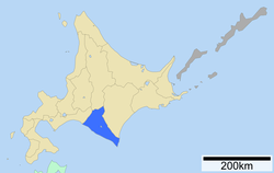 Location of Hidaka Subprefecture