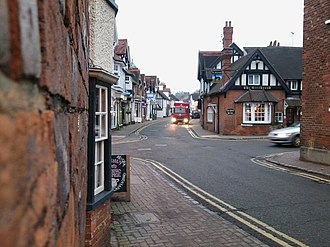 Wargrave - Image: High Street, Wargrave; The Greyhound