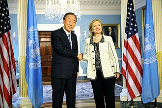 Ban Ki-moon - U.S. Secretary of State Hillary Clinton with Ban Ki-Moon, 7 April 2011
