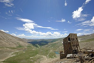 Lake County, Colorado - The historic Hilltop Mine on Mount Sherman is a popular attraction for hikers and photographers.