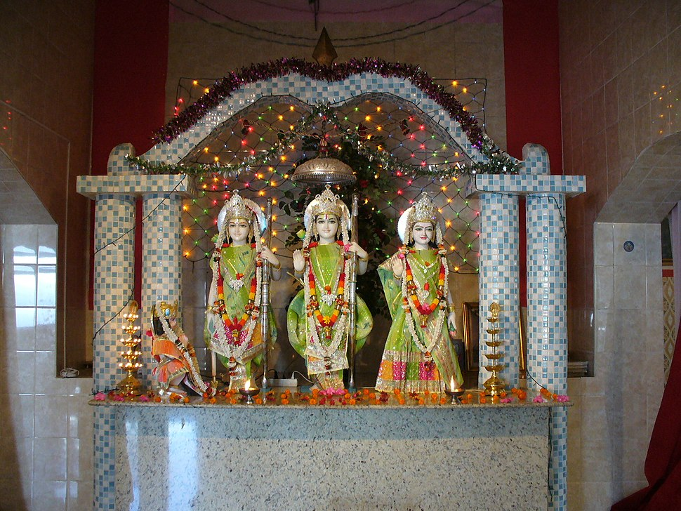 Hindu temple altar in Mozambique