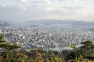 Chūgoku region - Image: Hiroshima beautiful view to the city and Inland sea panoramio