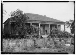 Richardson-Quarles-Comer House, taken in 1936 as part of the Historic American Buildings Survey