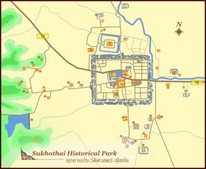Sukhothai Historical Park - Sukhothai historical park, Sukhothai province, Thailand