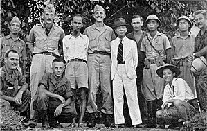 Ho Chi Minh - Ho Chi Minh (fifth from left, standing) with the OSS in 1945