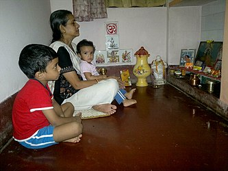 Home puja, Orissa India 2012.jpg