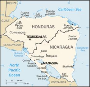 Honduras–Nicaragua border - Wikipedia on north country of nicaragua, welcome to nicaragua, hotels in chinandega nicaragua, highway map nicaragua, a current map nicaragua, fotos de nicaragua, map of limon, limon nicaragua, rancheria chinandega nicaragua, chichigalpa nicaragua, map of poneloya and las penitas, villanueva nicaragua,