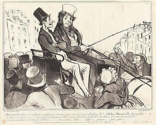 Honoré Daumier, Bertrand, dis donc, s'ils allaient nous faire..., 1838, NGA 57184
