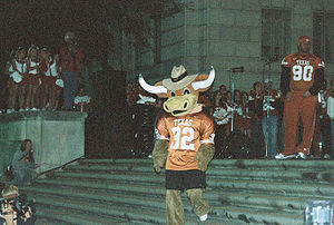 Hook 'em (mascot) - Hook'Em's before the 2014 costume change.