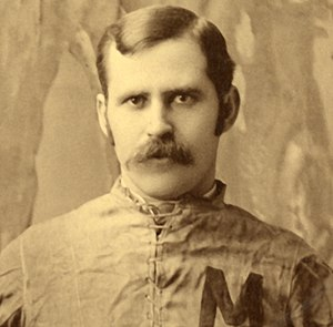 Horace Greely Prettyman - Horace Prettyman cropped from 1890 University of Michigan team photograph