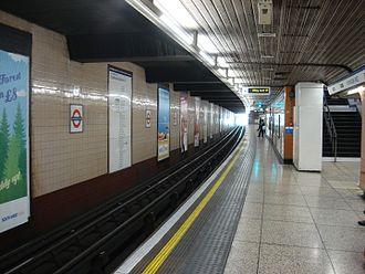 Hounslow West tube station - Image: Hounslow West tube Eastbound