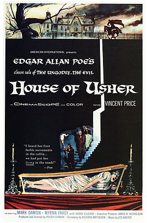 House of Usher (film) - Film poster by Reynold Brown