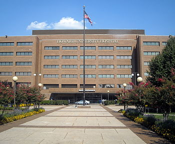 English: Howard University Hospital located at...