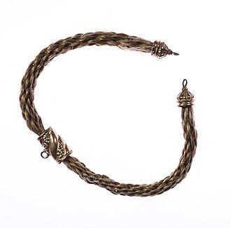 Mormon folklore - Image: Human Hair Bracelet 1