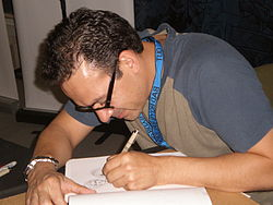 Humberto Ramos at Super-Con 2009 1.JPG