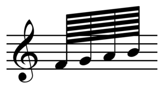 Hundred twenty-eighth note musical note duration