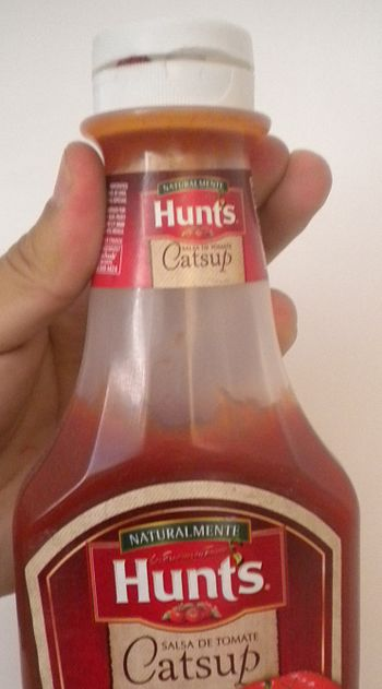 English: ketchup hunt's Español: cátsup hunts