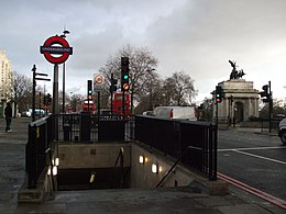 Hyde Park Corner stn northwest entrance.JPG