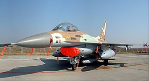 1980s - The Israeli Air Force F-16A Netz '243' that was flown by Colonel Ilan Ramon during Operation Opera