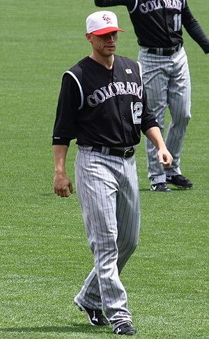 Clint Barmes - Barmes during his tenure with the Colorado Rockies in 2008