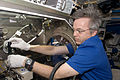 ISS-20 Robert Thirsk works in the Columbus lab.jpg