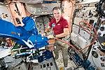 ISS-53 Paolo Nespoli works inside the Unity module.jpg