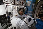 ISS-59 Christina Koch's spacesuit fit check.jpg