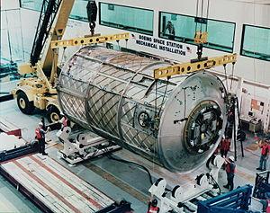 Habitation Module - ISS Habitation module under construction in December 1997