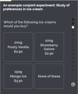 Conjoint analysis - Image: Ice cream experiment example