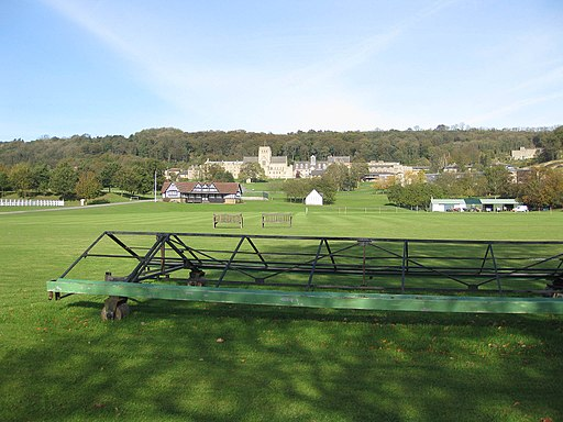 Immaculate cricket pitch, Ampleforth (geograph 2658045)