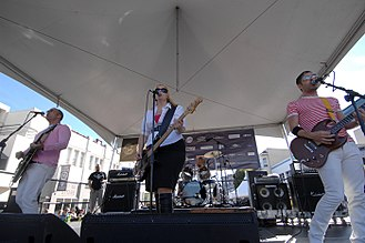 Imperial Teen - Imperial Teen, performing at Folsom Street Fair in 2007. Photo by Neil Motteram.
