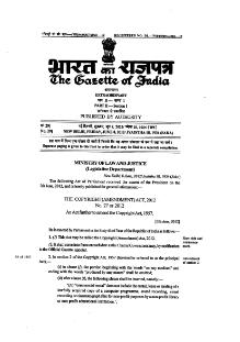 Indian Copyright Act (6th Amendment) 2012.djvu