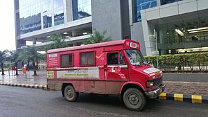Indian Postal Service Mail Van