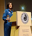 Indian origin NASA Astronaut, Ms. Sunita Williams delivering the lecture on 'Expedition – 33 International Space Station Mission Challenges and Success' at the Science City, Kolkata on April 02, 2013.jpg