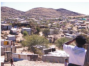 Flexible Land Tenure System (Namibia) - Image: Informal settlement in Windhoek 2