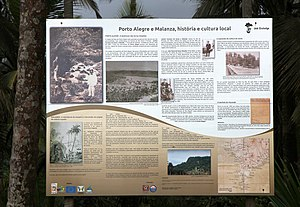 Information wall on the history of Roca Porto Alegre, Sao Tome and Principe.jpg